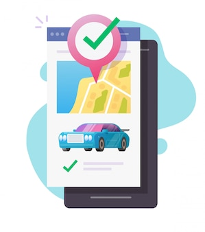 Autodelen locatie verhuur taxi auto mobiele applicatie service