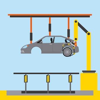 Autofabriek processtap banden assemblage