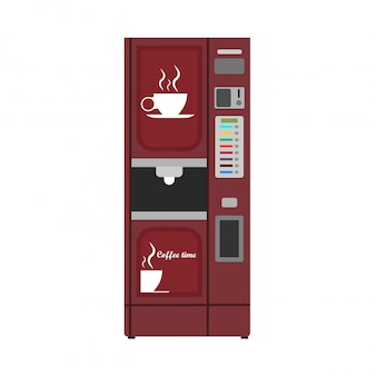 Automaat koffie illustratie