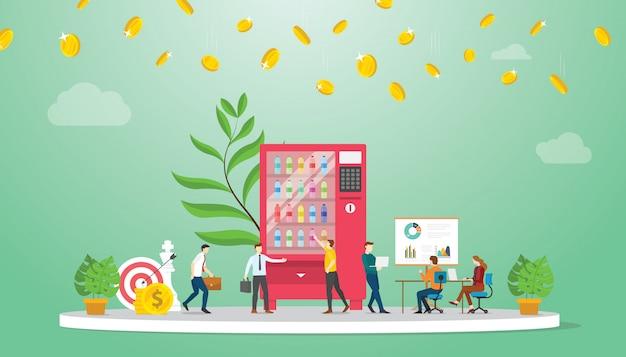 Automaat zakelijke groei financiën concept