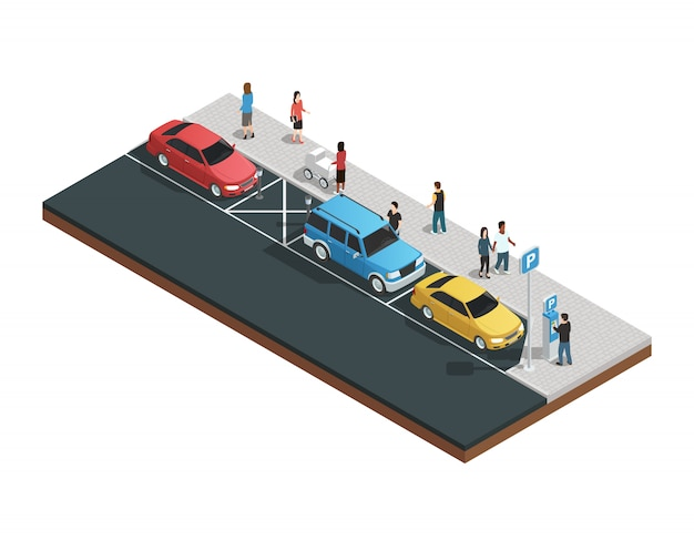 Automaten samenstelling met parkeerautomaten
