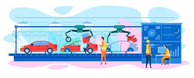 Automatische autoverbindingstransporteur