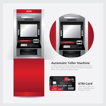 Automatische geldautomaat met atm-kaart