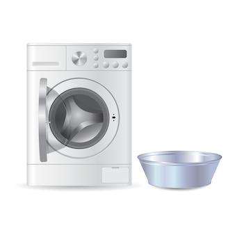 Automatische open wasmachine met voorlader