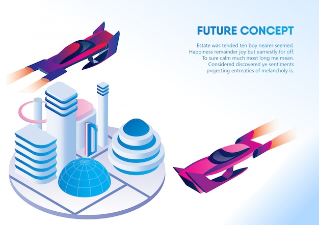 Autonome driverless car, future concept banner