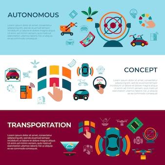 Autonome transporttechnologie pictogrammen instellen