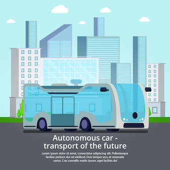 Autonome transportvoertuigen zonder bestuurder van de toekomst