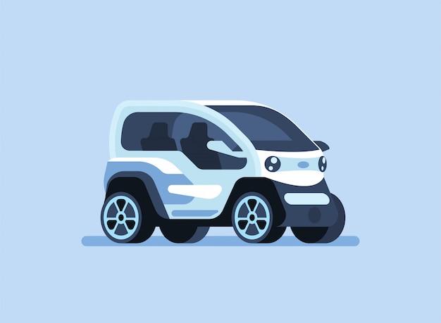 Autonome zelfrijdende auto illustratie