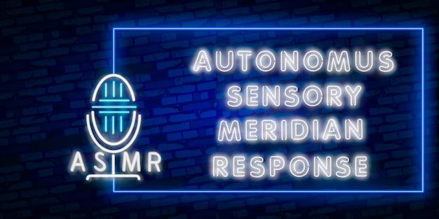 Autonoom sensorisch meridiaan antwoord neonreclame
