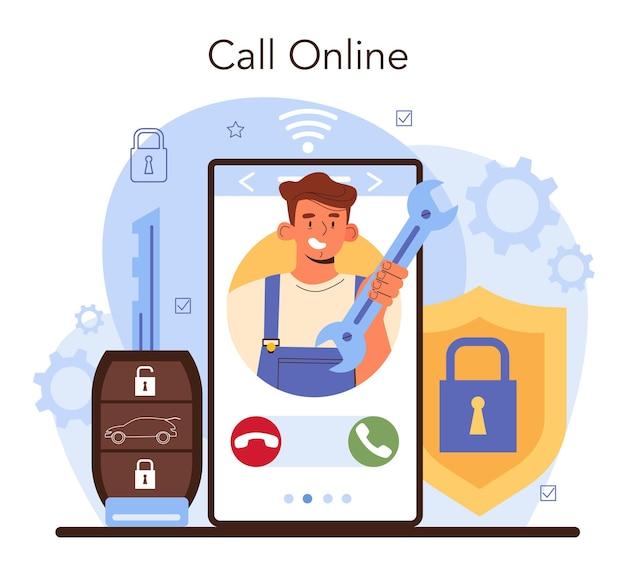 Autoreparatieservice online service of platformmonteurcontrole