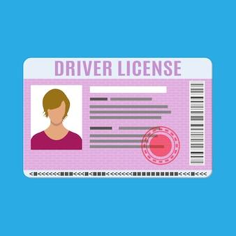 Autorijbewijs identiteitskaart met foto.