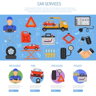 Autoservice infographic