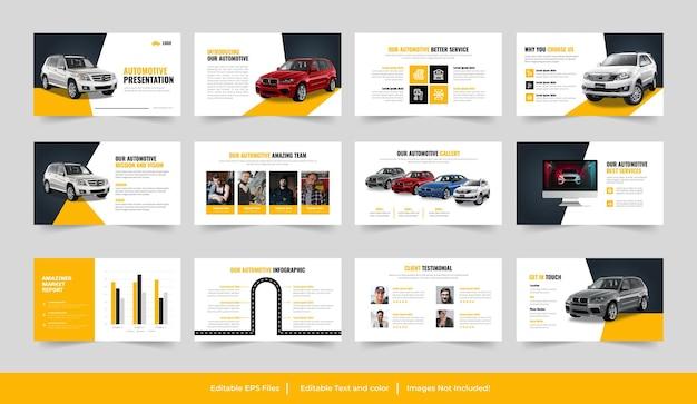 Autoservices of automotive powerpoint-sjabloon