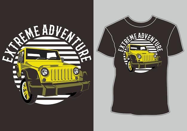 Autot-shirt, geïsoleerd gemakkelijk uit te geven