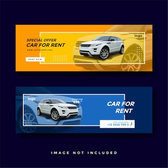 Autoverhuur facebook omslag banner advertentiesjabloon