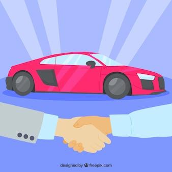 Autoverkoper concept