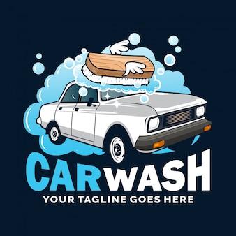 Autowassen met logo