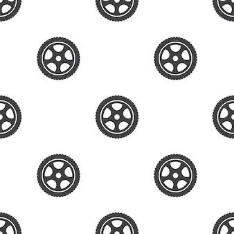 Autowiel, vector naadloos patroon, bewerkbaar kan worden gebruikt voor webpagina-achtergronden, opvulpatronen