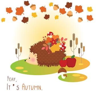 Autumn hedgehog