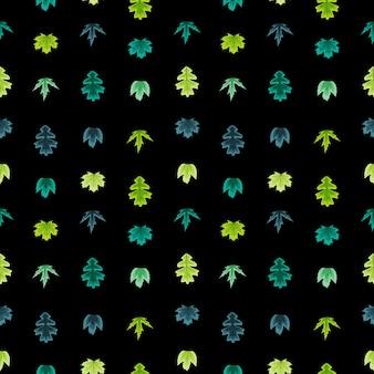 Autumn leaves seamless pattern illustration