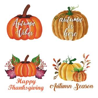 Autumn logo collection