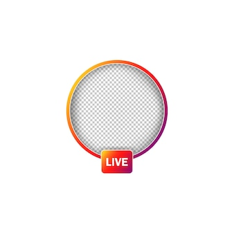 Avatar-frames voor sociale media. live verhalen gebruiker videostreaming. vector op geïsoleerde witte achtergrond. eps-10.