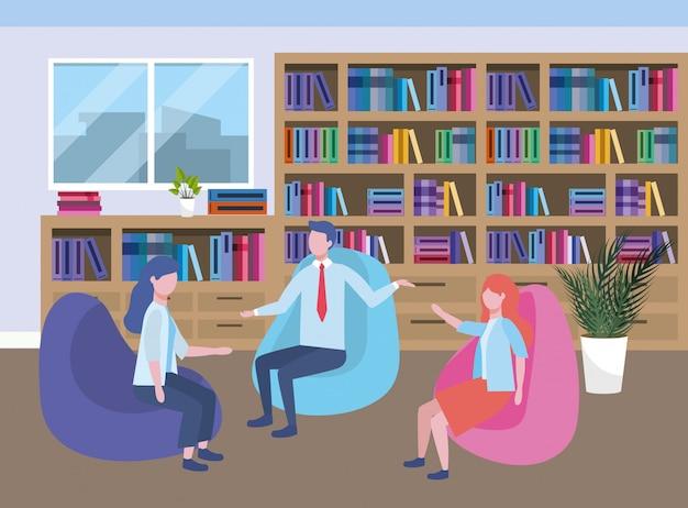Avatar van zakenman en zakenvrouwen