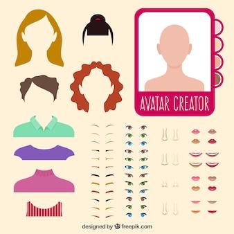 Avatar vrouw creator