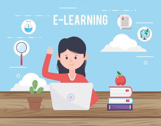 Avatar vrouw en online leren