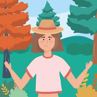 Avatar vrouw met hoed