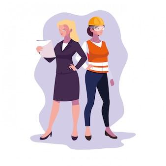 Avatar vrouwen cartoon ingenieur