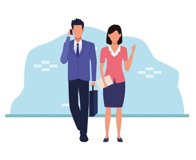 Avatar zakenman en zakenvrouw
