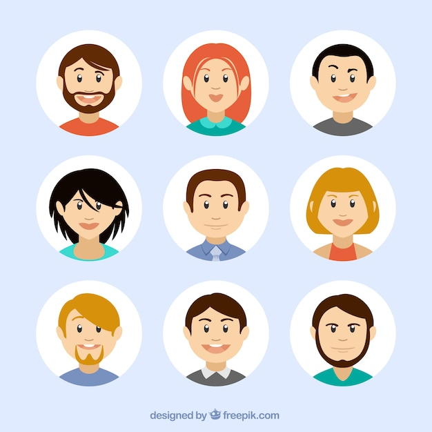 Avatars in cartoon-stijl