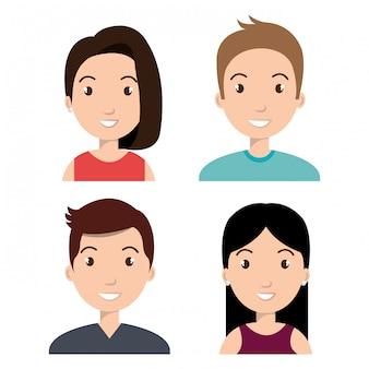 Avatars mensen ontwerp