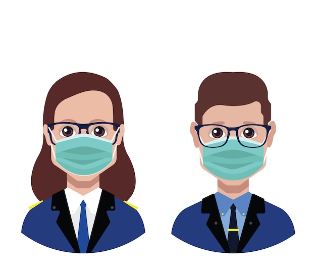 Avatars met medisch masker