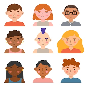Avatars ontwerpen voor verschillende mensen
