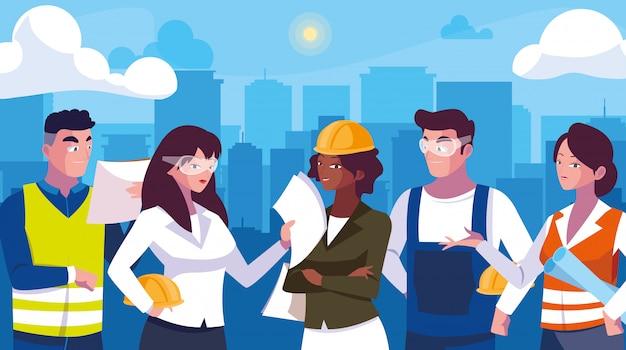 Avatars set van professionele werknemers