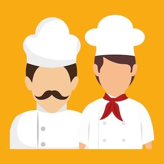Avatars voor chef-kok en souschef