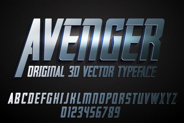 Avenger vintage belettering