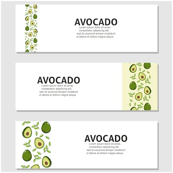 Avocado fruit in plat design