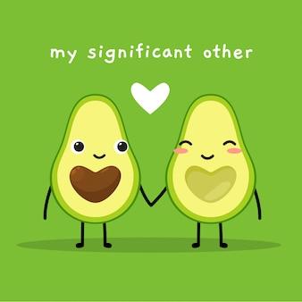 Avocado met hartvormig zaad