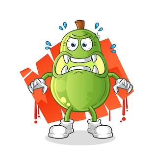 Avocado monster vector. stripfiguur