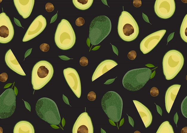 Avocado naadloos patroon hele d