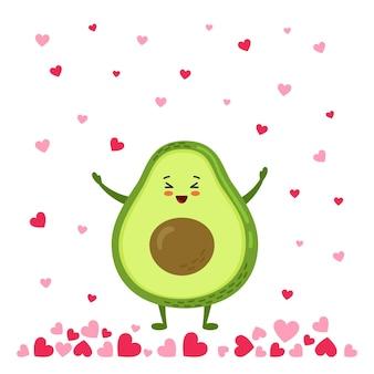 Avocado-regen van liefdeharten