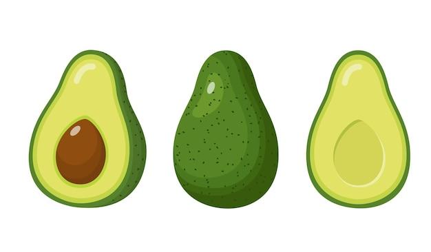 Avocado voedsel pictogram.
