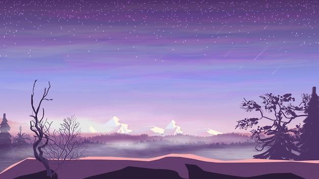 Avond landschap