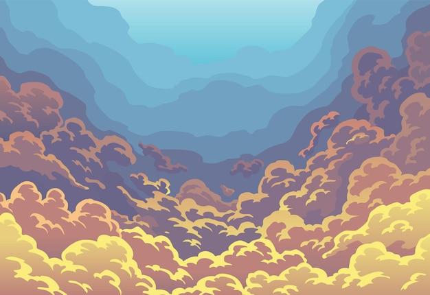 Avondlucht wolken