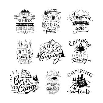 Avontuur citeert typografie belettering voor t-shirtontwerp