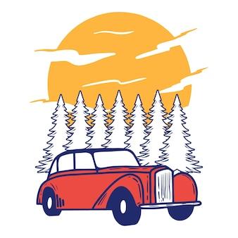 Avontuur klassieke auto boom