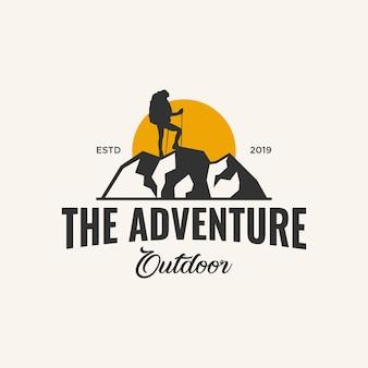 Avontuur logo ontwerp inspiratie,